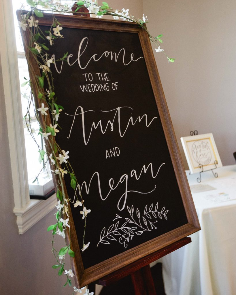 wedding chalk calligraphy