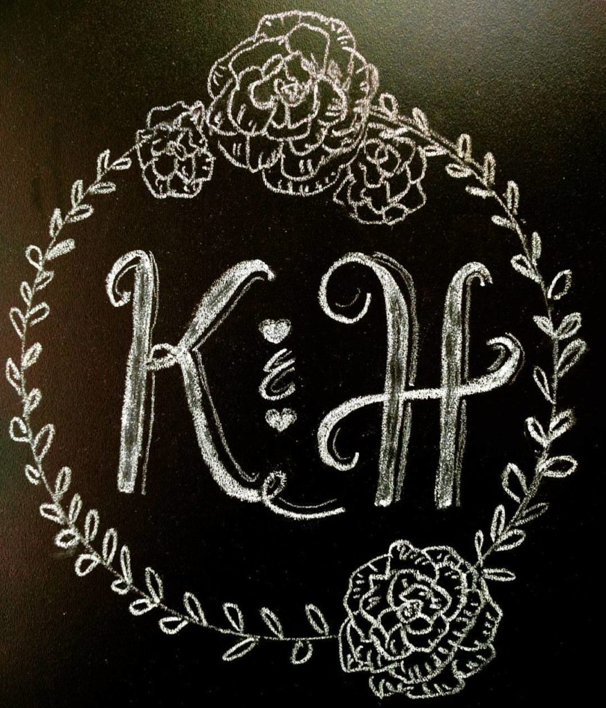 wedding chalkboard monogram