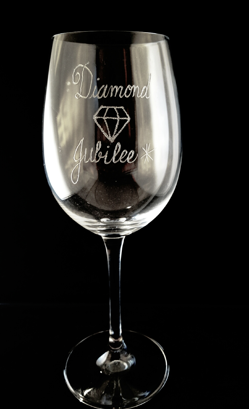 Wine Glass Engraving for a Special Birthday