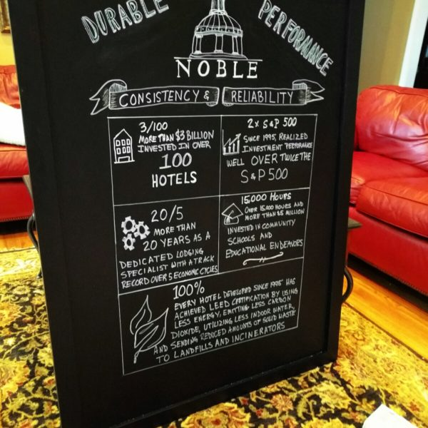 corporate chalkboard sign