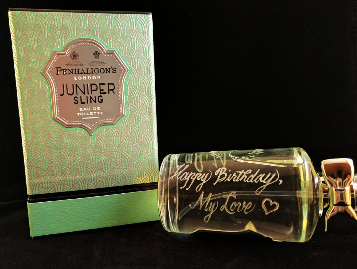 Fragrance Bottle Engraving for a Long-Distance Birthday