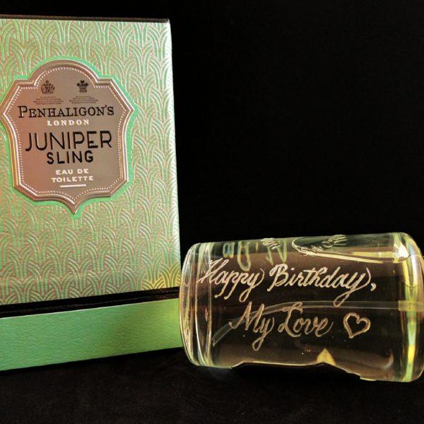 perfume bottle engraving