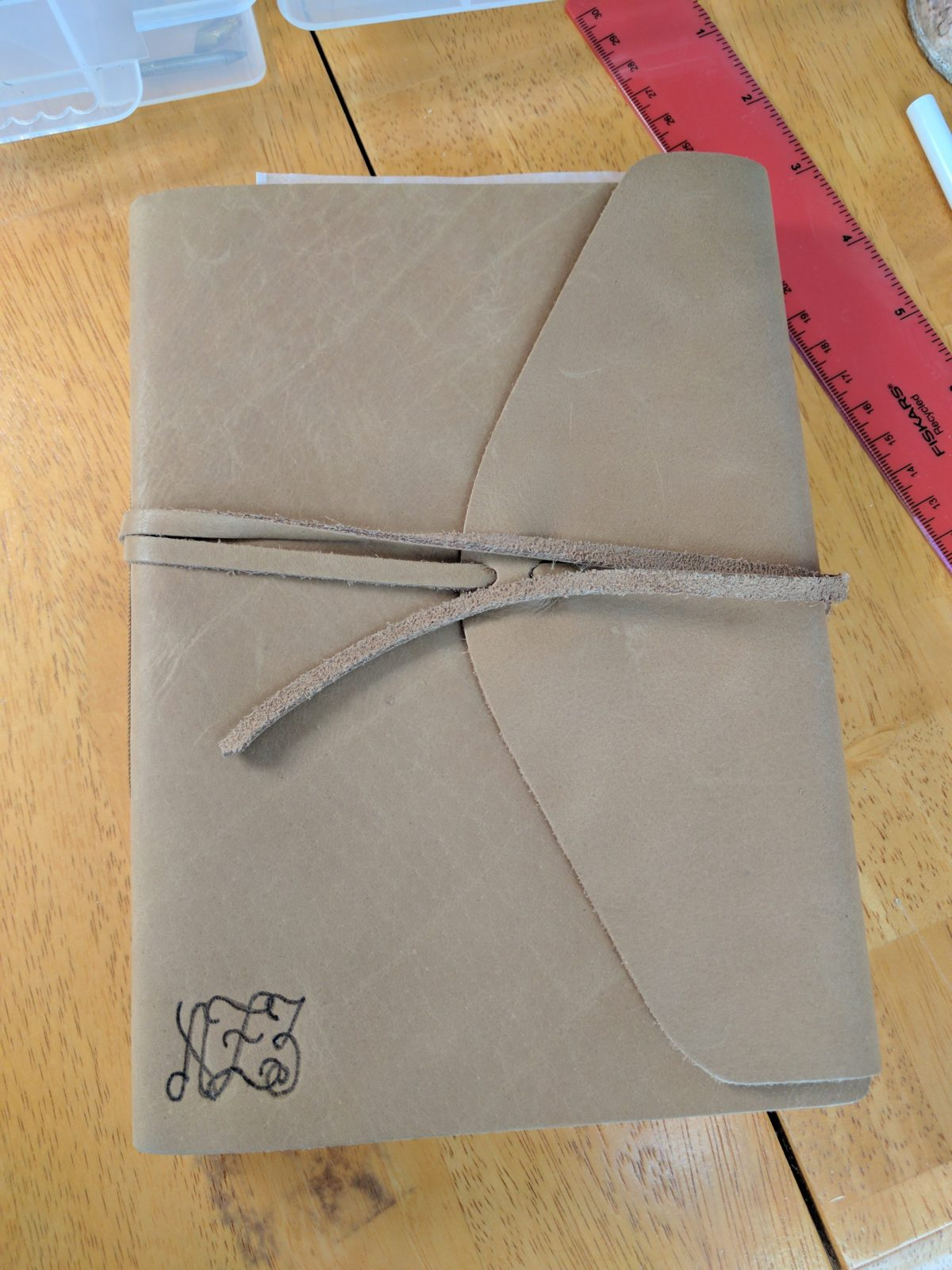 Personalized Leather Journal with a Custom Monogram