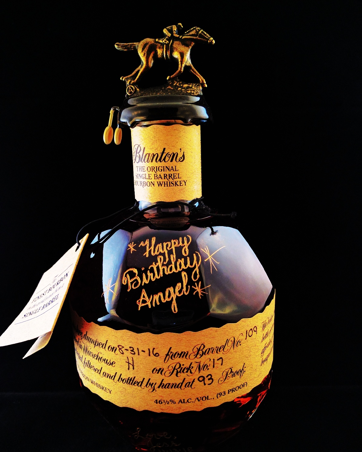 Bourbon Bottle Engraving Makes a Special Birthday Gift