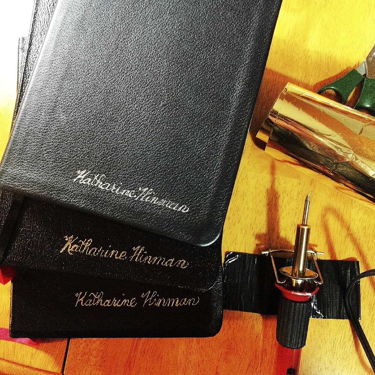 Gold or Silver Leather Embossing on Bibles, Hymnals and Books