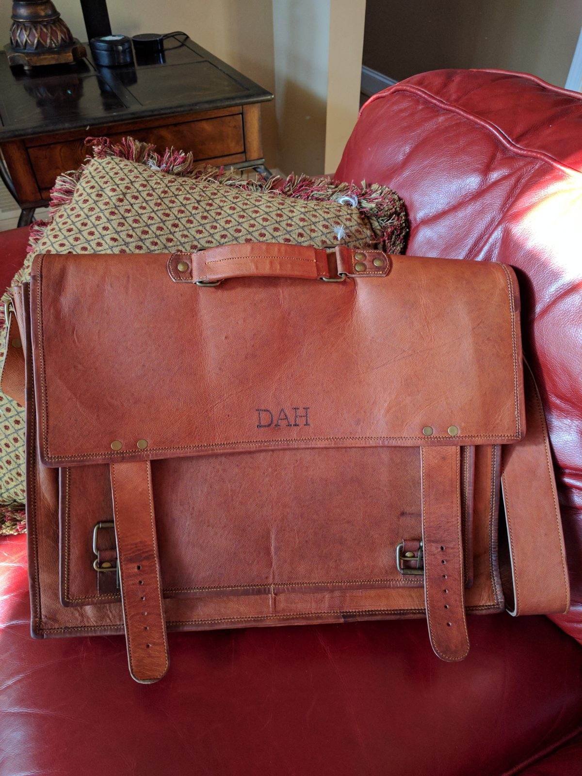 A Monogrammed Briefcase for a Special Client