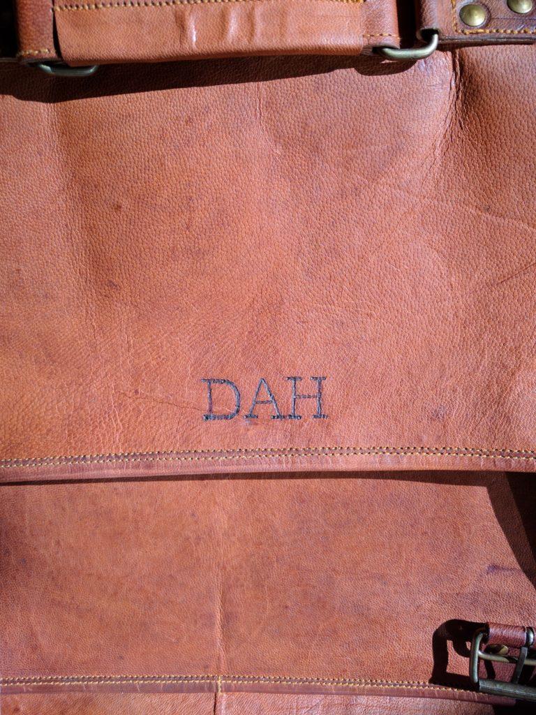 monogrammed briefcase