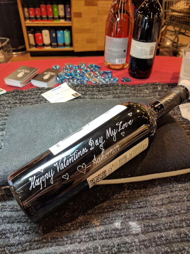 wine bottle engraver