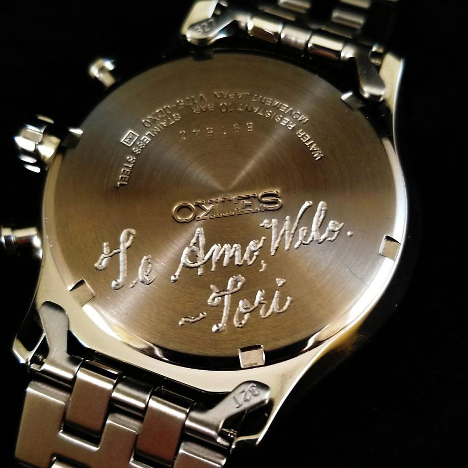 Watch Engraving Saves Grandaughter's Gift
