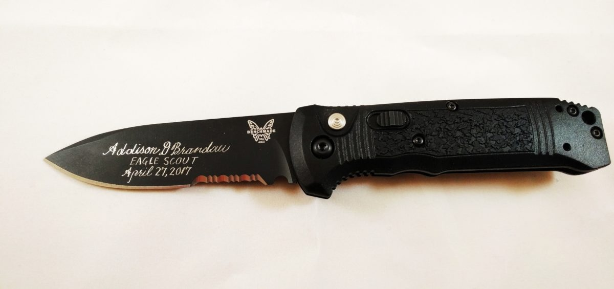 Benchmade Knife Engraving
