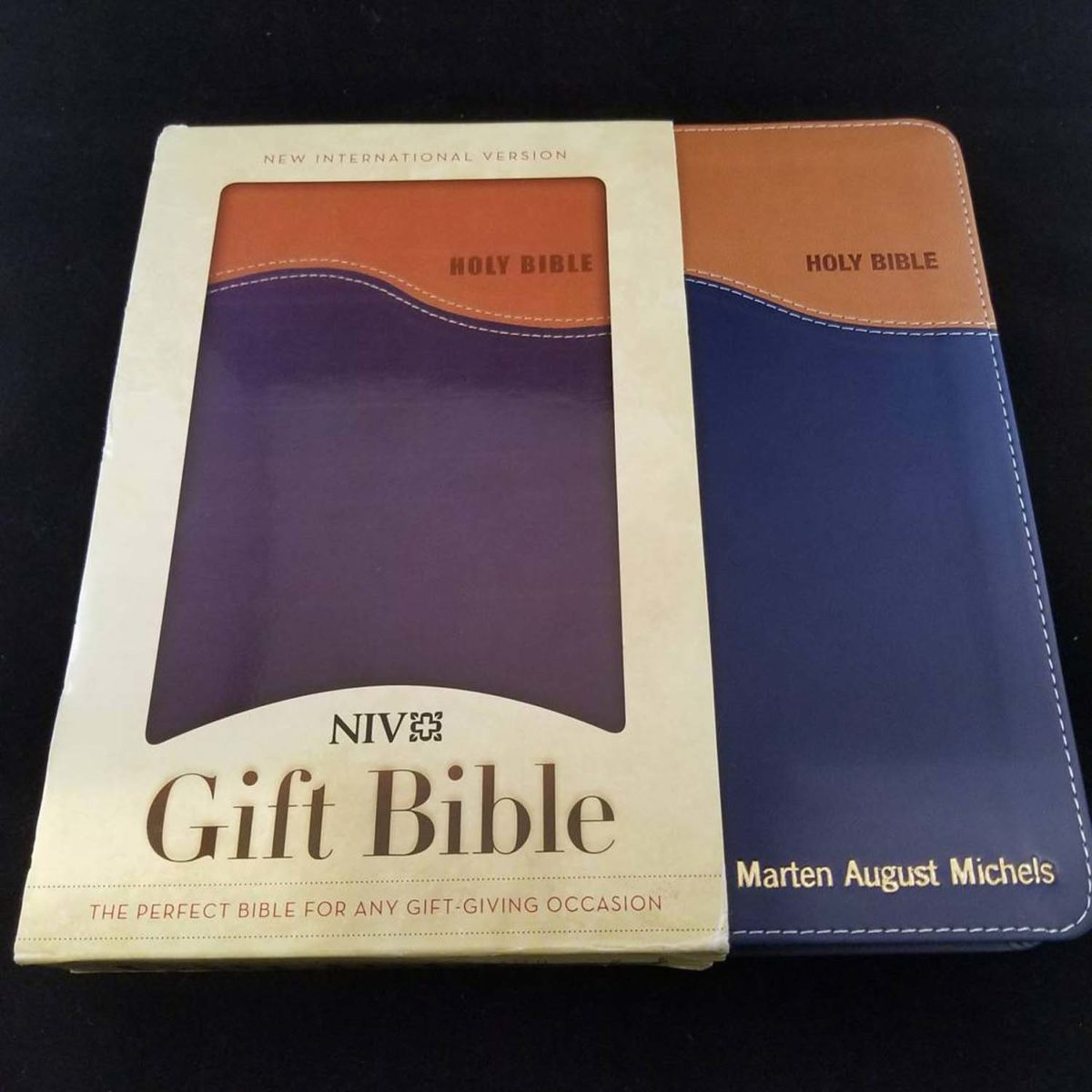 Gold or Silver or Rose Gold Leather Embossing on Bibles, Hymnals and Books