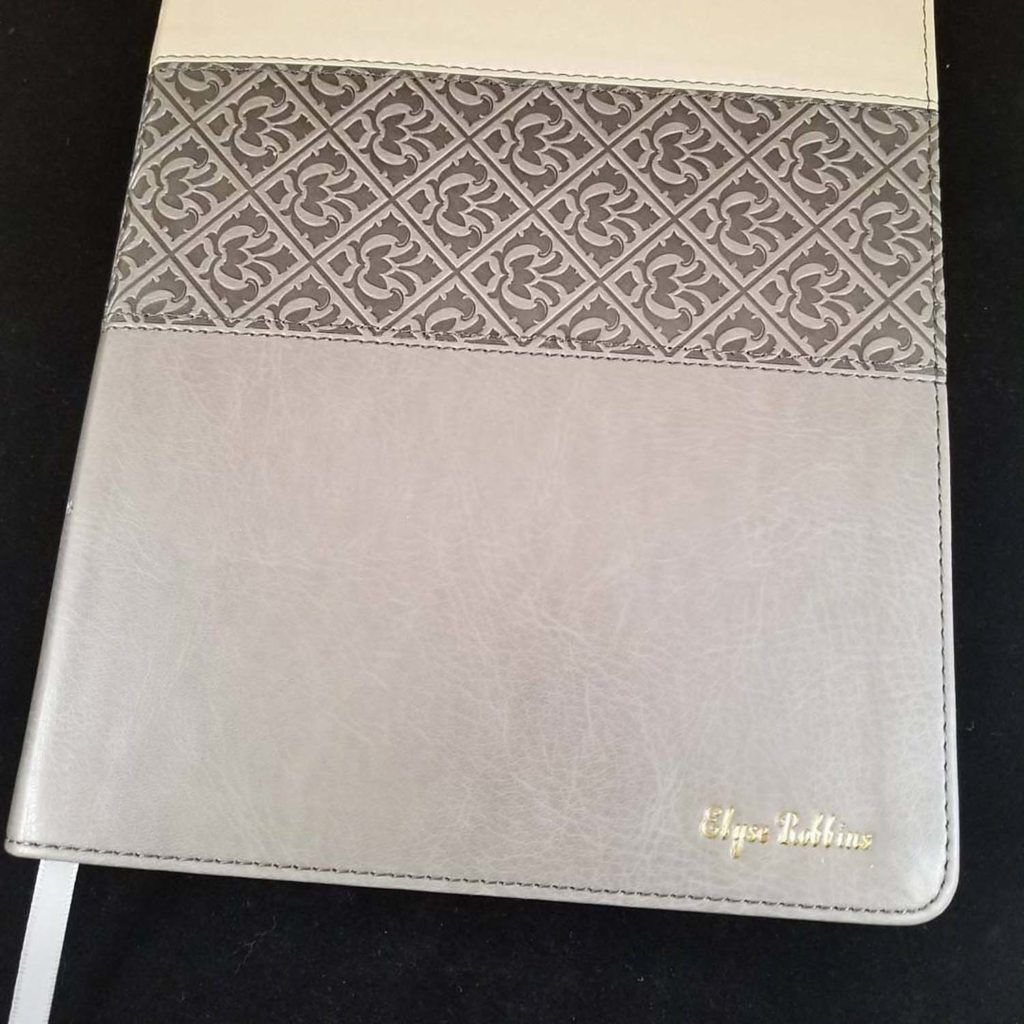 leather bible embossing