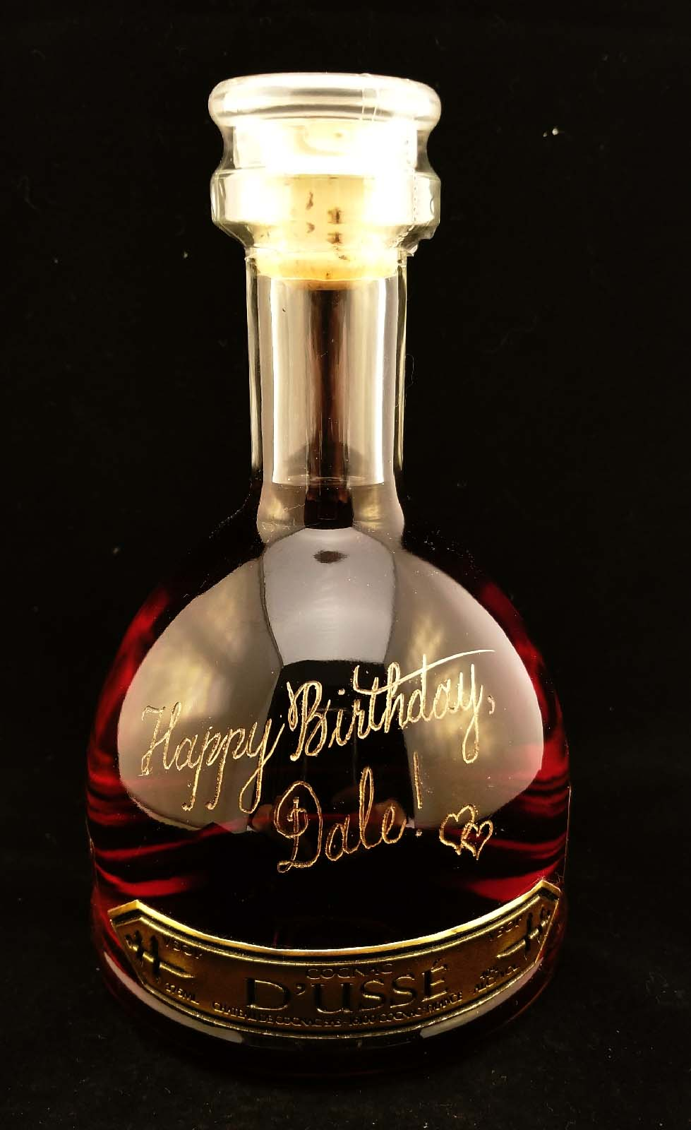 Liquor Bottle Engraver Makes A Cognac Birthday Gift Extra Special