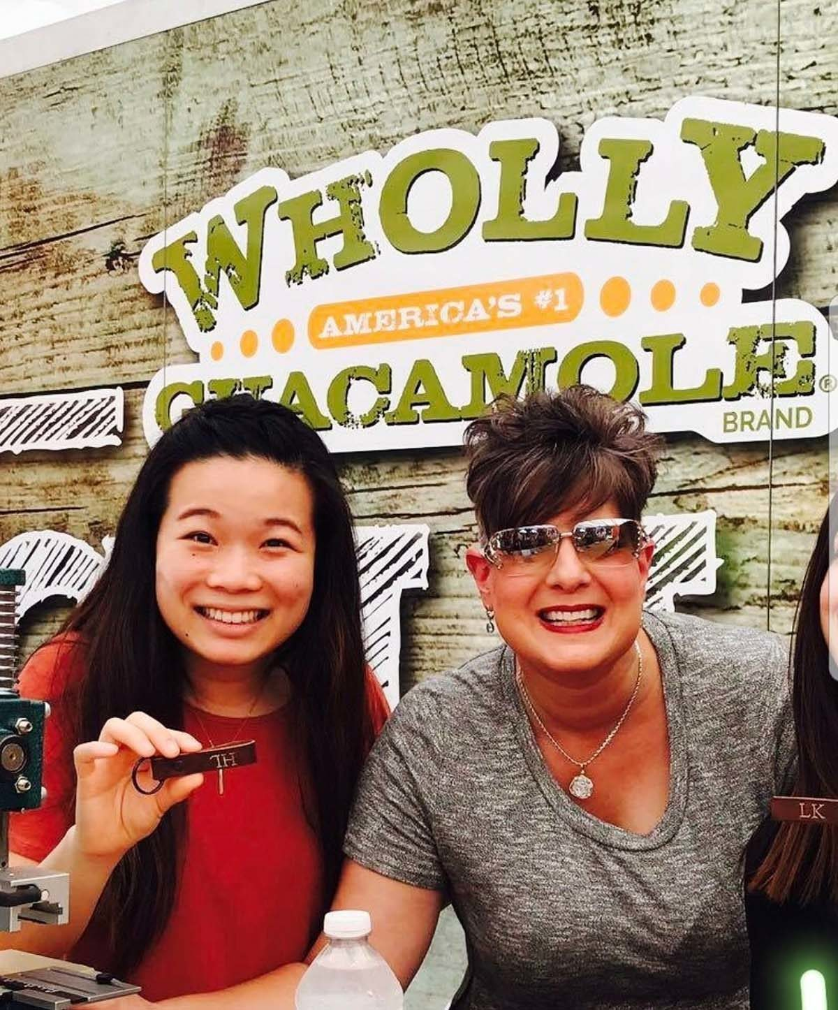 Live Monogramming Events for Wholly Guacamole A Smash Hit