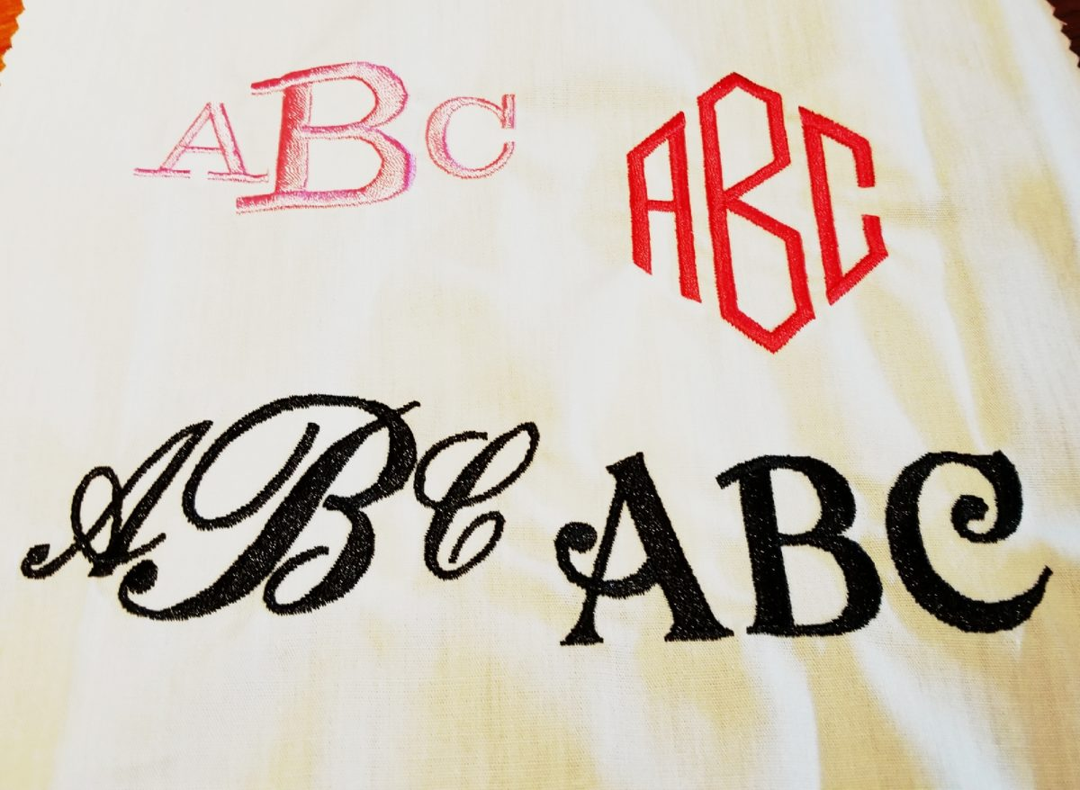 embroidery monogramming