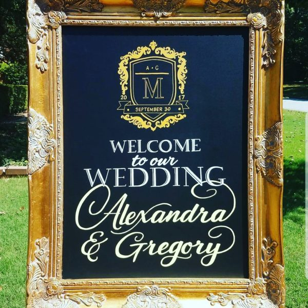 wedding chalkboard signs