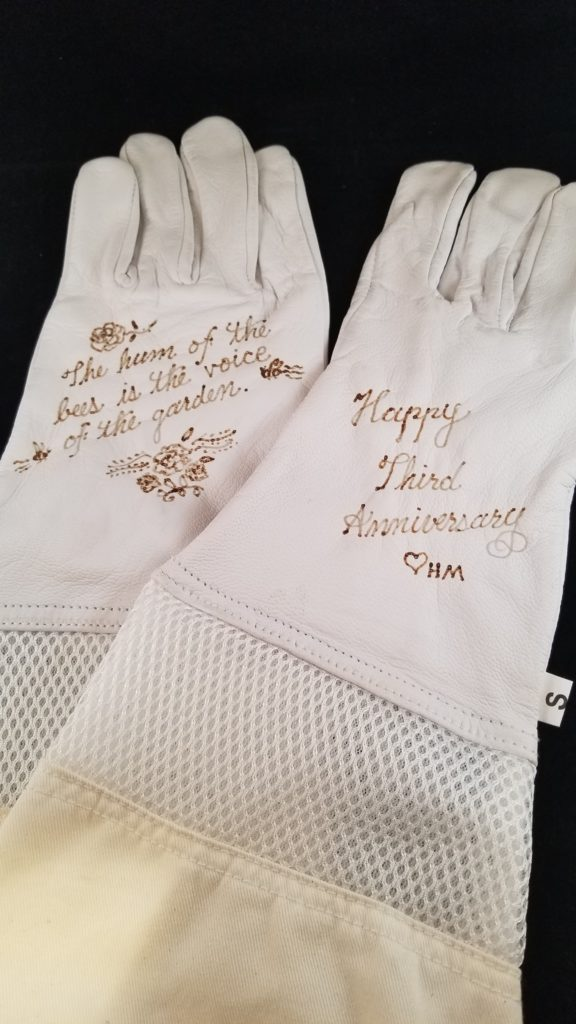 personalized beekeeping gloves