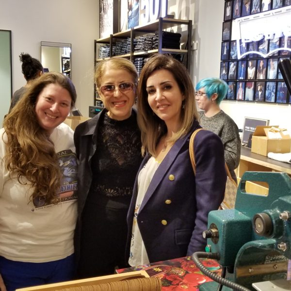 Leather Patch Monogramming Event for Levi's Grand Opening Huge Success