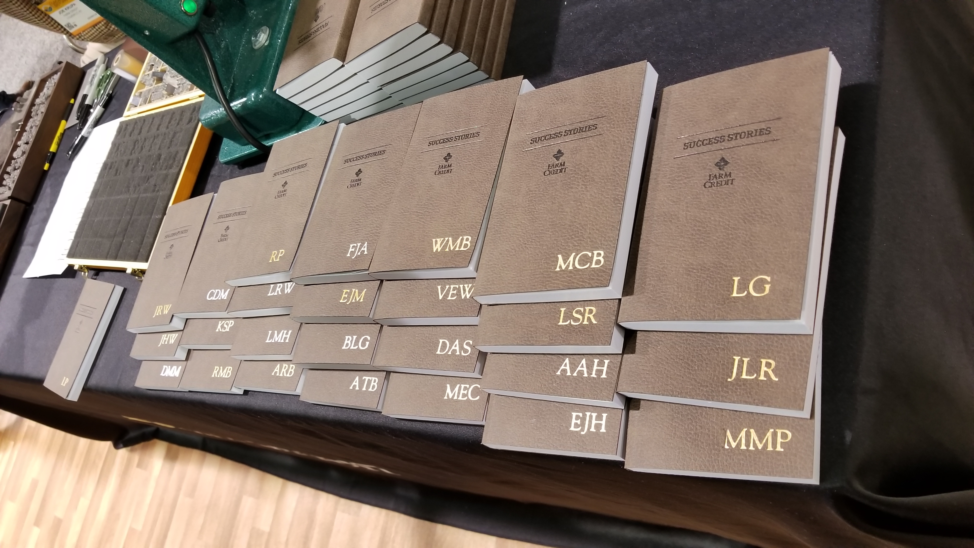 personalized journals most popular swag at commodity classic