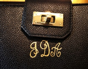 leather calligraphy