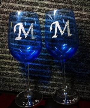 engraved wedding glasses