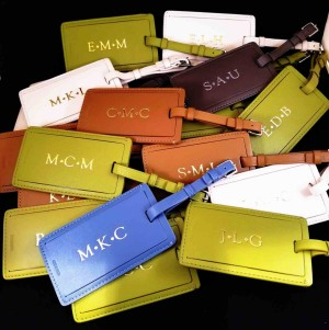 luggage tag embossing