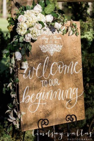 wedding wood chalkboard